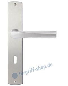 Padua Langschildgarnitur Nickel matt/Edelstahl matt Griffwelt