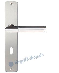 Siena Langschildgarnitur Nickel matt/Edelstahl poliert/matt Griffwelt