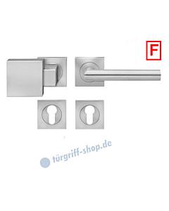 Rhodos ER/FS28Q Feuerschutz-Wechselgarnitur Knopf/Drücker PZ 9 mm Edelstahl matt Karcher Design