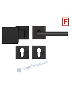 Rhodos ER/FS28Q Feuerschutz-Wechselgarnitur Knopf/Drücker PZ 9 mm Kosmos schwarz Karcher Design