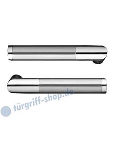 Rio Steel ER34 Drückerpaar ohne Drückerrosetten Edelstahl pol/matt Karcher Design