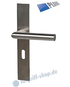 Ronny II Square-LS PLANO Langschildgarnitur Edelstahl matt Südmetall