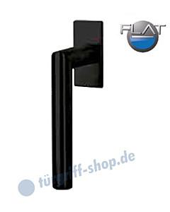 Ronny Square Flat Fenstergriff - nicht abschließbar - Schwarz matt von Südmetall