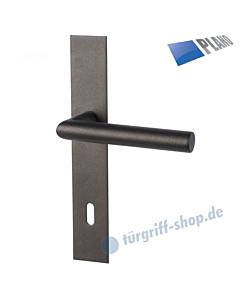 Ronny II Square-LS PLANO Langschildgarnitur Schwarzstahl-Optik Südmetall