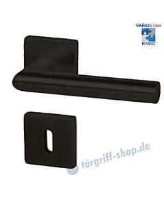 Ronny II Square-R Rosettengarnitur VarioStar Basic Schwarz matt von Südmetall