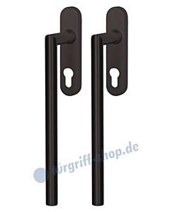Ronny Hebe-/ Schiebetürbeschlag PZ abschließbar schwarz matt von Südmetall
