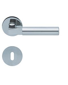 1016 (Bauhaus) flache runde Rosettengarnitur Edelstahl poliert von Scoop