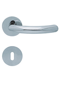 1085 (Golf) flache runde Rosettengarnitur Edelstahl poliert von Scoop