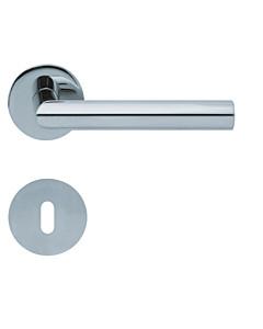 1106 (Thema) flache runde Rosettengarnitur Edelstahl poliert von Scoop