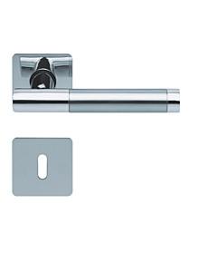 1275 (Roxy) flache quadratische Rosettengarnitur Edelstahl poliert von Scoop