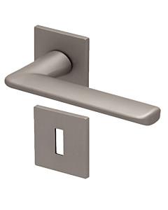 8010Q Rosettengarnitur quadratisch Nickel-matt von Scoop