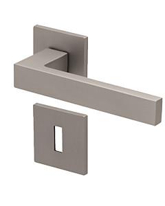 8040Q Rosettengarnitur quadratisch Nickel-matt von Scoop