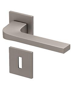 8044Q Rosettengarnitur quadratisch Nickel-matt von Scoop