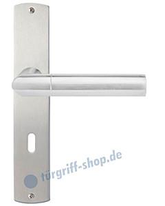 Rovigo Langschildgarnitur Nickel matt/Edelstahl matt Griffwelt