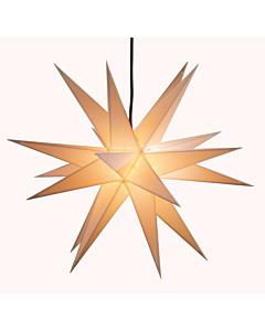 Adventsstern weiß, Ø 60 cm beleuchtet für den Innen- und Außenbereich von Saico