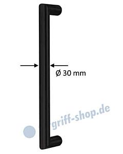 Stoßgriff San Pantaleo gerade, Ø 30 mm, schwarz matt in 4 Längen Südmetall
