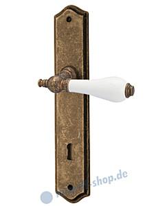 Ass Sandra S Langschildgarnitur Antik Goldbraun/Porzellan weiß von Reguitti