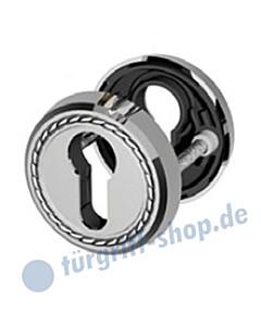 PZ Schlüsselrosettenpaar Sanssouci R992 Profilzylinder-Lochung 5 Farben Jatec