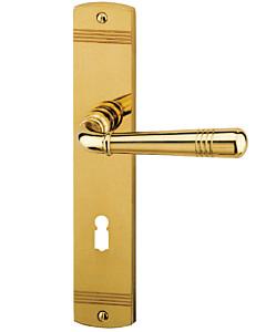 Scarlet LS Langschildgarnitur Robusta Gold-poliert Südmetall