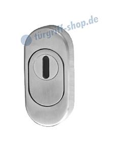 Schutzrosette oval mit KZS Rosettentiefe 14 mm Aluminium von Südmetall