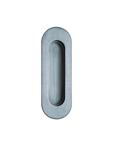 Schiebetürmuschel oval, unsichtbare Befestigung, Edelstahl matt von Scoop