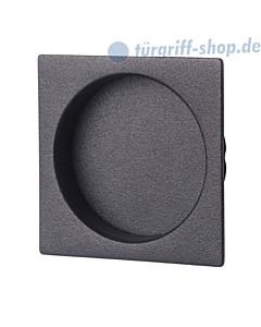 Schiebetürmuschel Square quadratisch Schwarzstahl-Optik von Südmetall