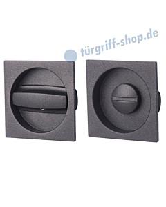 Schiebetürmuschel Set Square abschließbar mit Riegel Schwarzstahl-Optik von Südmetall