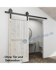 Schiebetürsystem Black Line Wood für Holzschiebetüren von Edestar