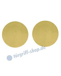 Schlüsselrosettenpaar blind flächenbündig rund Ø 55mm Messing-poliert PVD Scoop