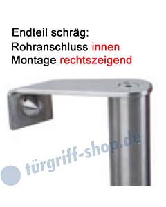 Stoßgriffhalter Universal Endteil schräg, rechtszeigend Edelstahl Südmetall