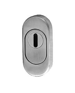 Schutzrosette oval mit KZS Rosettentiefe 15 mm Edelstahl matt Südmetall