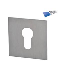 Schutzrosette Plano Square 52x52 mm Edelstahl matt Südmetall