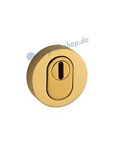 Schutzrosette außen 373-855-200 rund, PZ mit Kernziehschutz in Ultra Messing Jatec