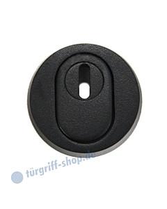 Schutzrosette 96421A/1 PZ mit Kernziehschutz in Schwarz matt von Spitzer