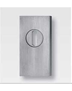 Schutzrosette flach rechteckig 61421E5 mit KZS, Stärke 5 mm, Edelstahl matt von Spitzer