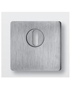 Schutzrosette flach quadratisch 64421E4 mit KZS, Stärke 4 mm, Edelstahl matt von Spitzer