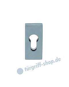 Rechteckige Sicherheitsrosette aus Edelstahl matt oder poliert von Scoop