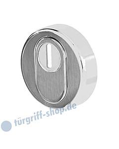 Schutzrosette Round (außen) mit Kernziehschutz Ø 55 mm Edelstahl matt von Griffwelt