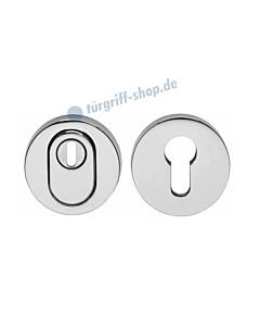 Schutzrosettenpaar PZ rund mit Kernziehschutz SKG*** Chrom von Intersteel