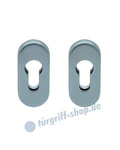 Ovale Sicherheitsrosetten Paar aus Edelstahl matt oder poliert von Scoop