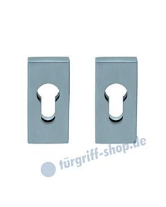 Rechteckige Sicherheitsrosetten Paar aus Edelstahl matt oder poliert von Scoop