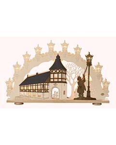 3D Schwibbogen Altstadtromantik Original Erzgebirge Saico