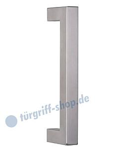 Stoßgriff Kreta II -gerade- Edelstahl-matt V2A | Griffstange 30 x 30 | diverse Längen von Südmetall