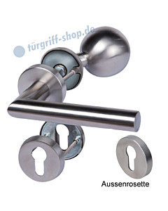 Sicura Manuel/Ronny-R Top Speed Rosetten-Schutzgarnitur, Knopf/Drücker,  ES1, Edelstahl matt Südmetall