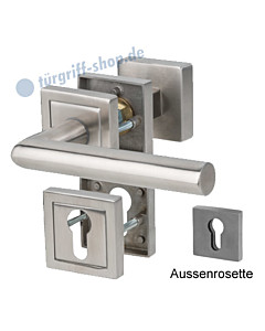 Sicura Oliver/Ronny-R Top Speed Rosetten-Schutzgarnitur, Griffplatte/Drücker, ES1, Edelstahl matt Südmetall