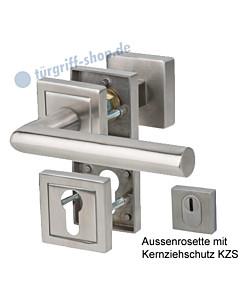Sicura Oliver/Ronny-R Top Speed Rosetten-Schutzgarnitur mit KZS, Griffplatte/Drücker, ES1, Edelstahl matt Südmetall