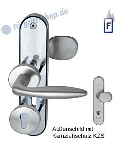 Sicura Kombi-LS/R Top Speed Feuerschutz-Schutzgarnitur mit KZS, ES1, Edelstahl matt Südmetall