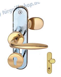 Sicura Kombi-LS/R TopSpeed Schutzgarnitur mit KZS Robusta Gold-poliert von Südmetall
