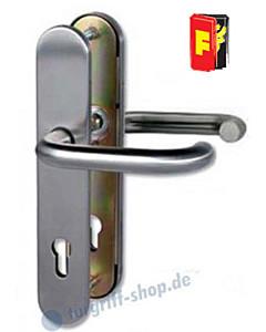 Sicura Paula Schutzgarnitur FS Drücker/Drücker WE PZ 9/72mm ES1 Edelstahl-matt Südmetall