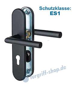 Sicura Ronny-LS/LS Schutzgarnitur ES1 Drücker/Drücker Schwarz matt von Südmetall